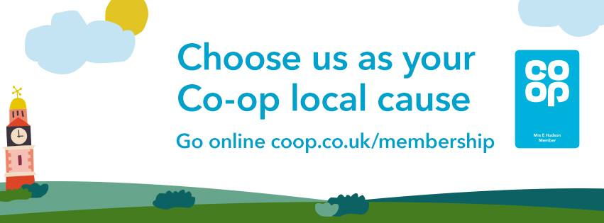 banner for co-op local cause